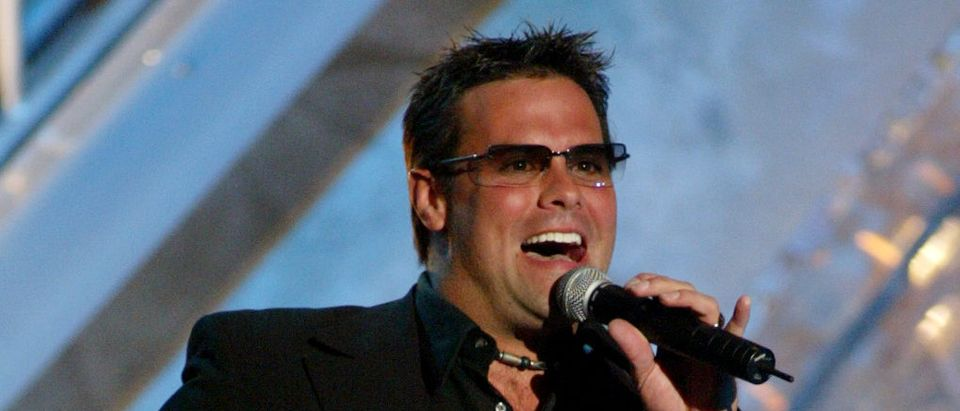 TROY GENTRY PERFORMS AT THE ACADEMY OF COUNTRY MUSIC AWARDS IN LASVEGAS.
