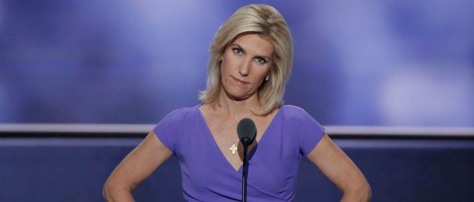 Conservative political commentator Laura Ingraham speaks during the third session of the Republican National Convention in Cleveland