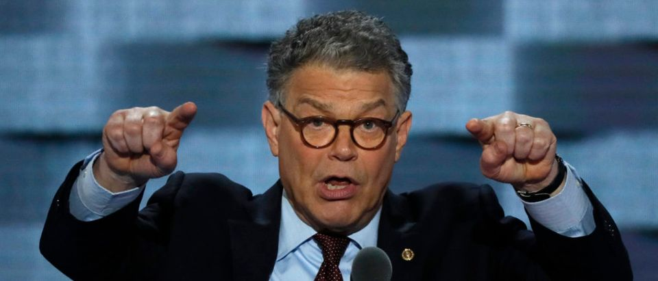 Senator Al Franken speaks at the Democratic National Convention in Philadelphia