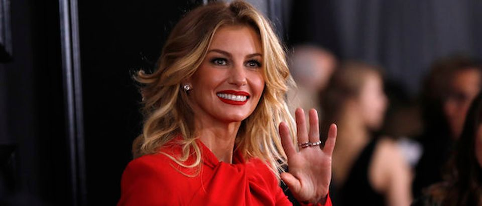 Musician Faith Hill arrives at the 59th Annual Grammy Awards in Los Angeles