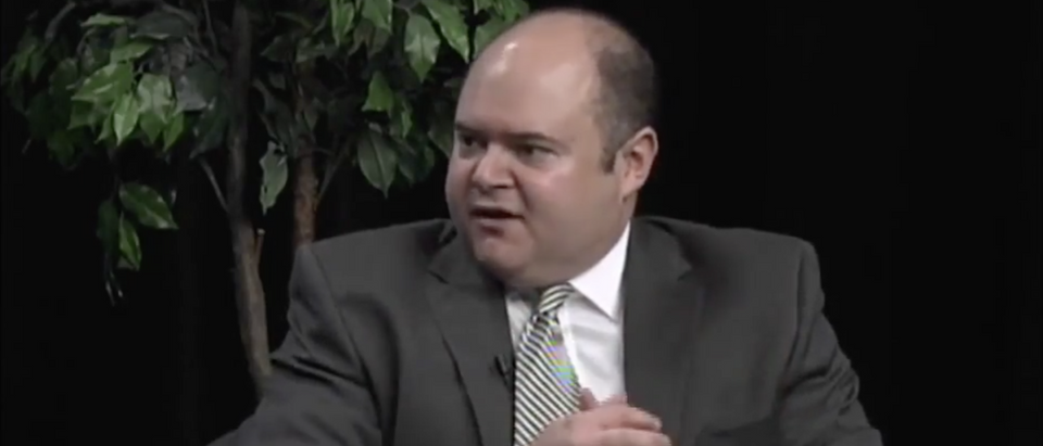 Minnesota Supreme Court Justice David Stras speaks on 'Access to Democracy' in May 2015.