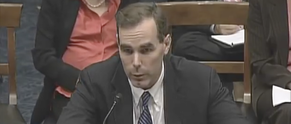 Eric Dreiband, President Trump's nominee to lead DOJ's civil rights division, in September 2007. (YouTube screenshot/