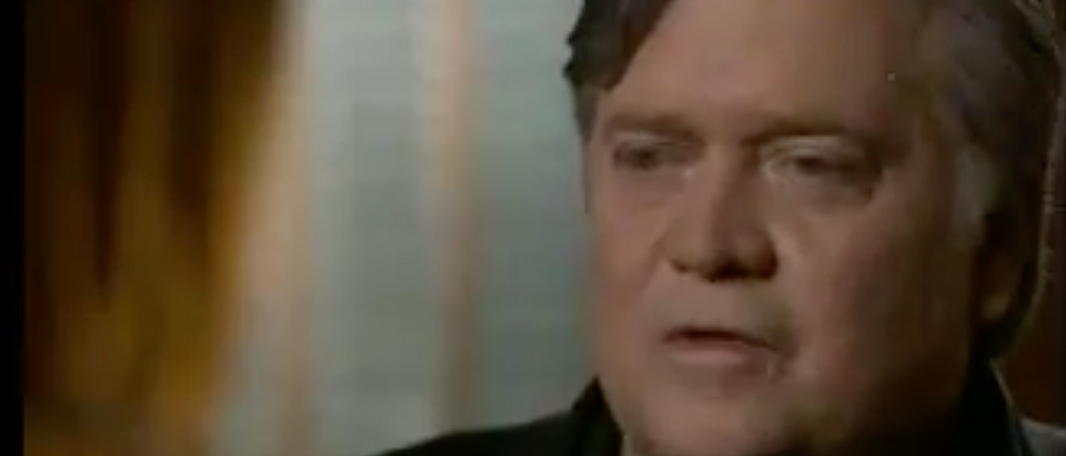"""Steve Bannon interviewed on """"60 Minutes."""" (Youtube screen grab)"""