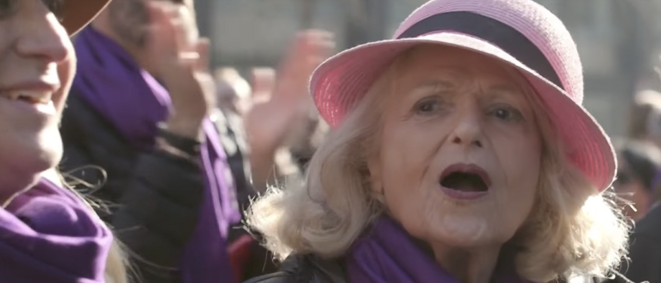 LGBT activist Edith Windsor in January 2017. (YouTube screenshot/NBC News)