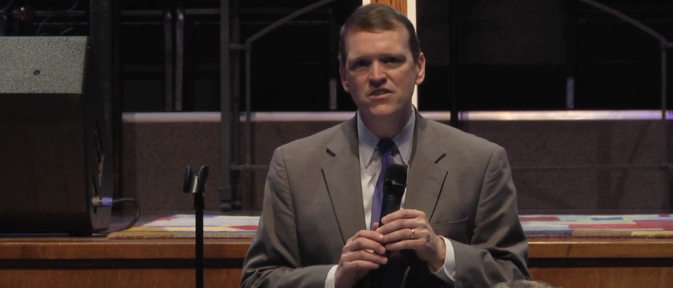 Jeff Mateer speaks in Texas in 2015. (Screenshot/
