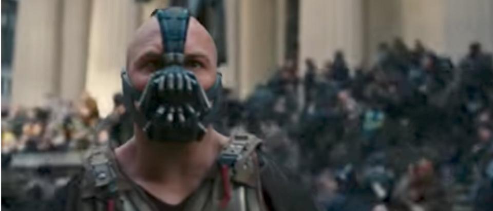 Tom Hardy as Bane (YouTube screenshot/'The Dark Knight Rises')