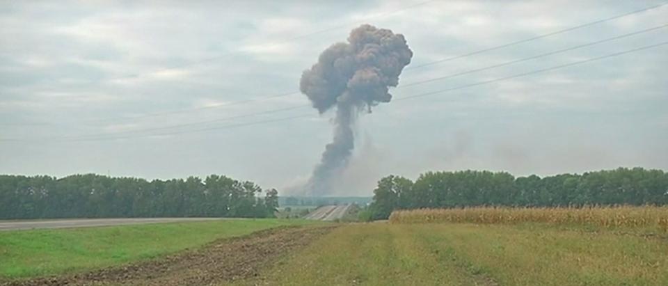 Explosion at Ukrainian munitions plant Sept. 26, 2017 youtube Screen shot