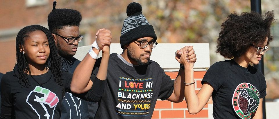 University of Missouri Black-Lives Matter protest Getty Images/Michael B Thomas