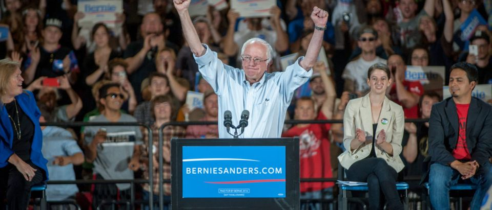 Bernie Sanders speaks at the MODA Center in Portland, OR. 9/8/2015 berniesanders2016democracydemocraticelectionspartypoliticalpoliticianpoliticsprimariesrallysystemus (Shutterstock)