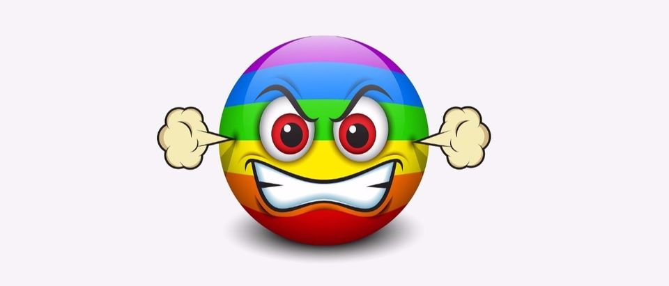 angry gay emoticon Shutterstock/Petrovic Igor