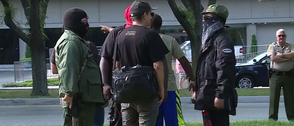 Antifa in Kansas City (Screenshot: YouTube/KMBC News 9)