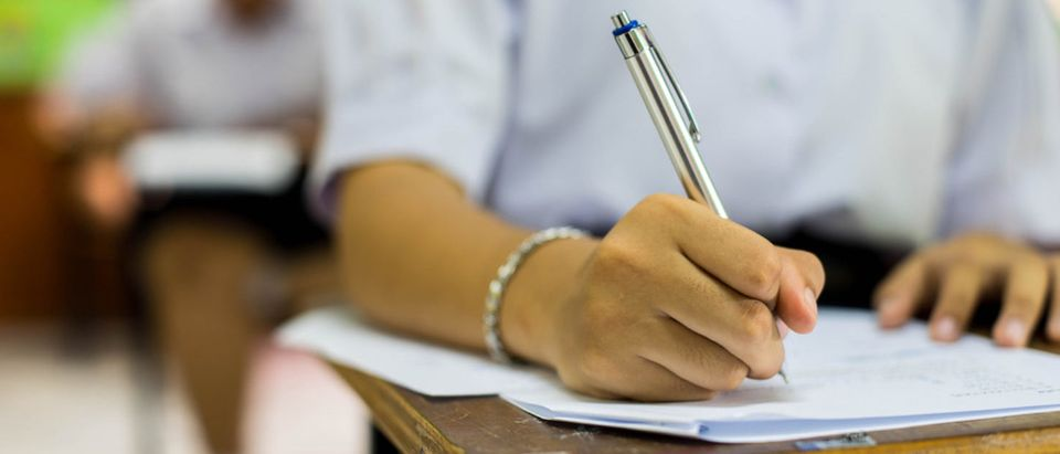 Student takes a test. (Shutterstock/arrowsmith2)
