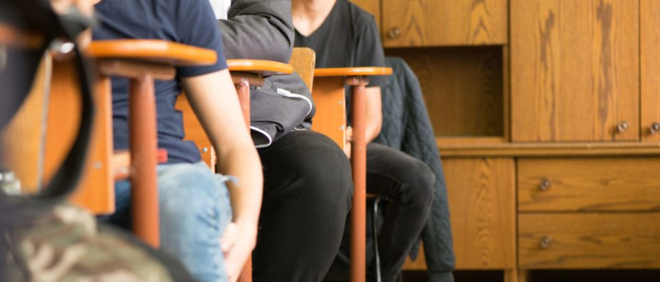 Students sitting in a classroom (Shutterstock/RoberG)