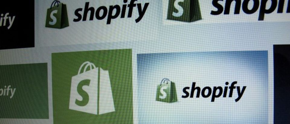 FILE PHOTO: Canadian e-commerce company Shopify Inc logo is shown on a computer screen in the illustration photo in Encinitas California