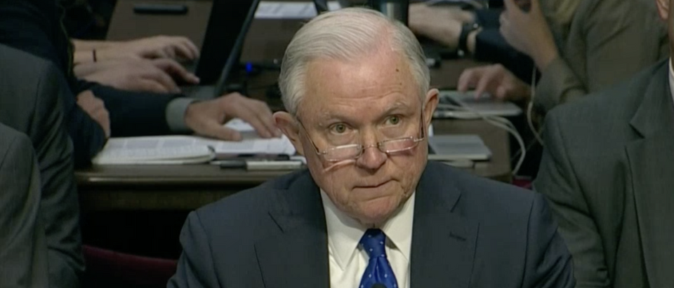 Attorney General Sessions testifies before the Senate Judiciary Committee in Oct. 2017