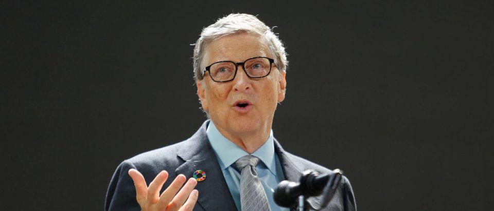 Bill Gates speaks at the Bill and Melinda Gates Foundation Goalkeepers event in Manhattan, New York, U.S., September 20, 2017. (REUTERS/Elizabeth Shafiroff)
