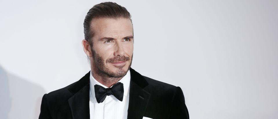 David Beckham arrives at the amfAR Gala Cannes 2017