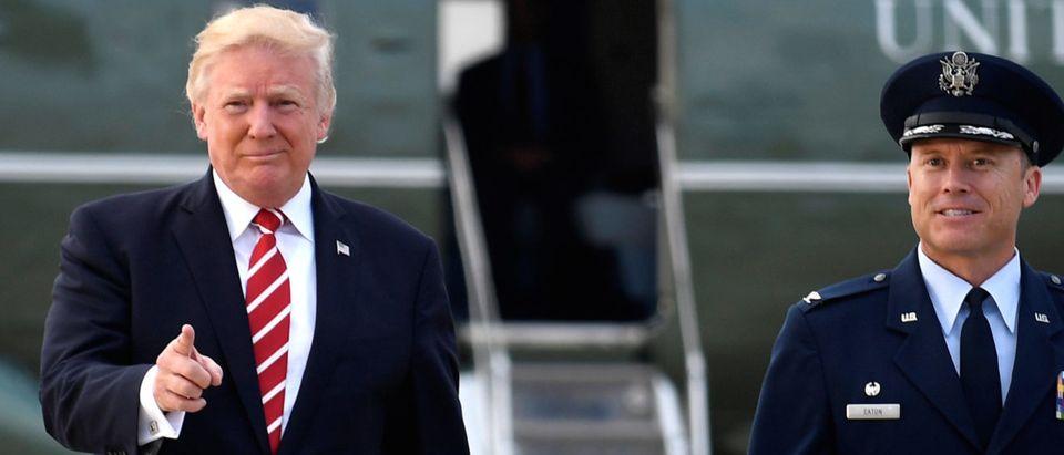 U.S. President Donald Trump departs Washington for fund-raising event in North Carolina