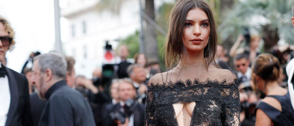 """Emily Ratajkowski attending the """"Loveless (Nelyubov)"""" screening during the Cannes Film Festival at Palais des Festivals in May 2017 in France. (Photo by Andreas Rentz/Getty Images)"""