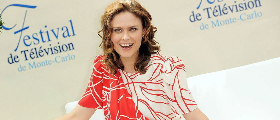 """Emily Deschanel attending a photocall for the TV series """"Bones"""" during the 2009 Monte Carlo Television Festival held at Grimaldi Forum in June 2009 in Monte-Carlo. (Photo by Pascal Le Segretain/Getty Images)"""