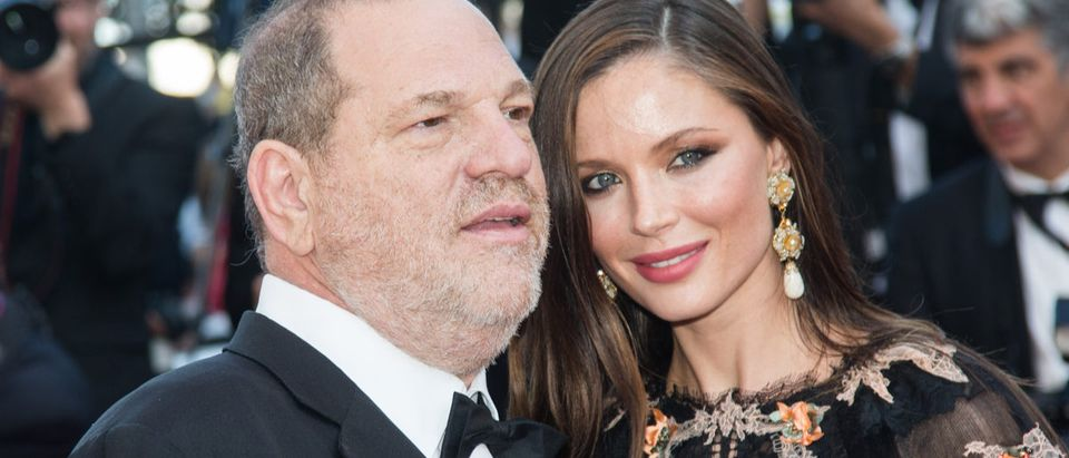 Harvey Weinstein and Georgina Chapman attends the 'Little Prince' Premiere during the 68th annual Cannes Film Festival on May 22, 2015 in Cannes, France. (Photo: Shutterstock)