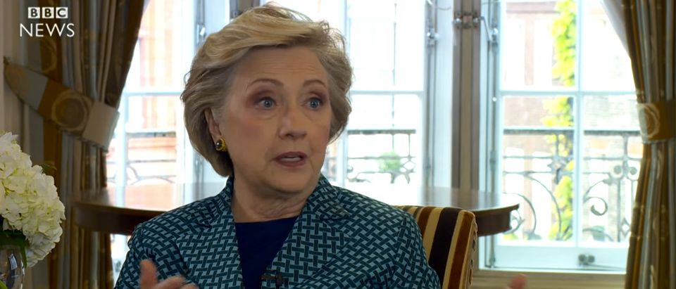 Hillary Clinton interview with BBC. (YouTube screen grab)