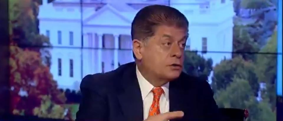 Judge Andrew Napolitano Talks Manafort Indictment And Bob Mueller Investigation 10-30-17 (Screenshot-Fox News)