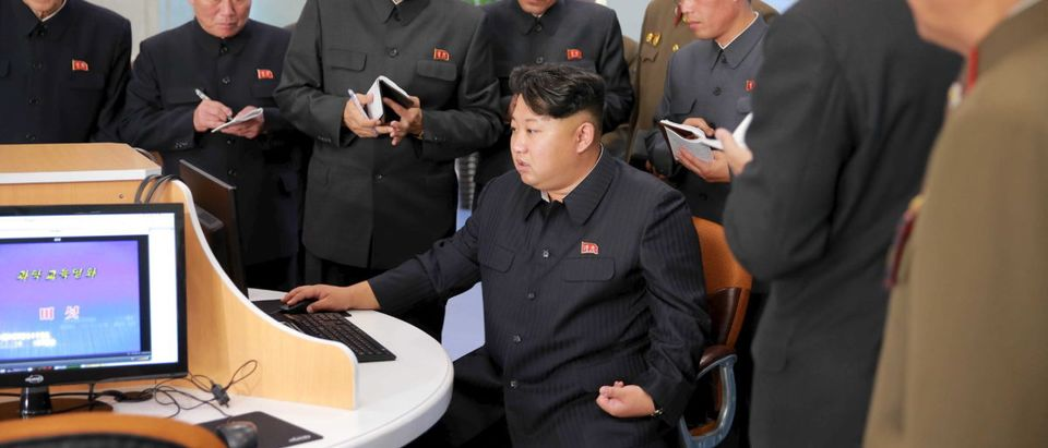 North Korean leader Kim Jong Un gives field guidance at the Sci-Tech Complex, in this undated photo released by North Korea's Korean Central News Agency (KCNA) in Pyongyang October 28, 2015. REUTERS/KCNA