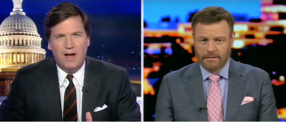 Everyone is colluding with Russia exceptfor President Donald Trump, conservative author Mark Steyn said Wednesday night on Fox News. (Photo: Screen Shot/Youtube/Tucker Carlson Tonight)