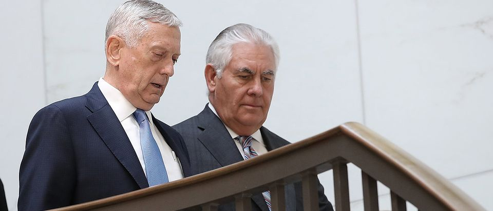 Tillerson, Mattis Testify At Closed Hearing On Authorization Of Military Force
