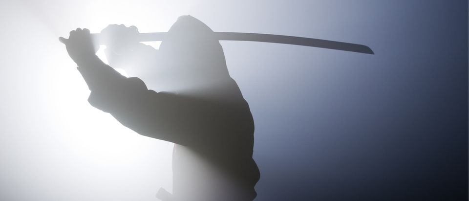 A real ninja shot on a smoke filled room and strobe light to achieve a dramatic effect. ninjasamuraiwarriorassassinswordsilentkillershadowkatanatrainingsilhouettestealthartscovereddarkjapanesekeylowmartialtraditionShow more (Shutterstock)