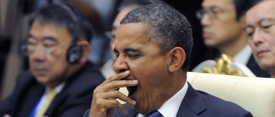 Obama yawns Getty Images/Jewel Samad