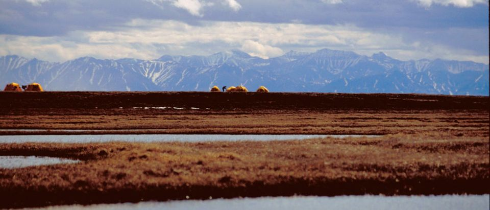 The U.S. Fish and Wildlife Service bird research camp on the Canning River Delta within the 1002 Area of the Arctic National Wildlife Refuge coastal plain is seen in this undated handout photo provided by the U.S. Fish and Wildlife Service Alaska Image Library. (ANWR) as part of a massive $453 billion war-time military spending bill. (Photo: REUTERS/HANDOUT/U.S. Fish and Wildlife Service Alaska Image Library)