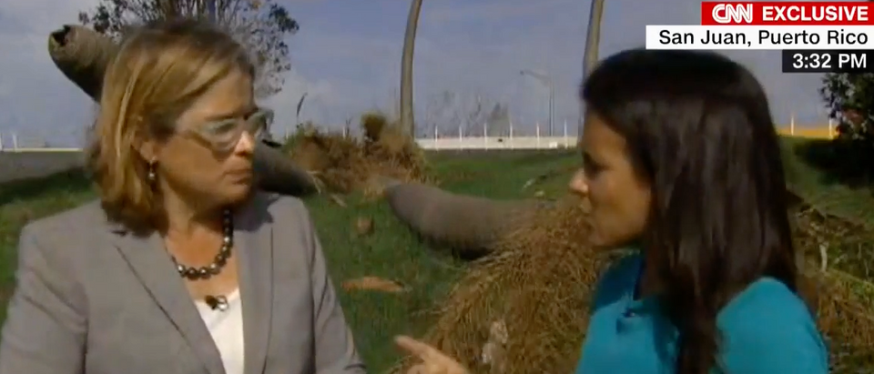 Carmen Yulin Cruz speaks with CNN reporter, Oct. 3, 2017. (Youtube screen grab)