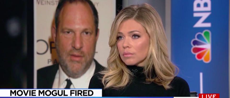 Screenshot Lauren Sivan Recalls Weinstein Harassment (MSNBC: Oct 9, 2017)