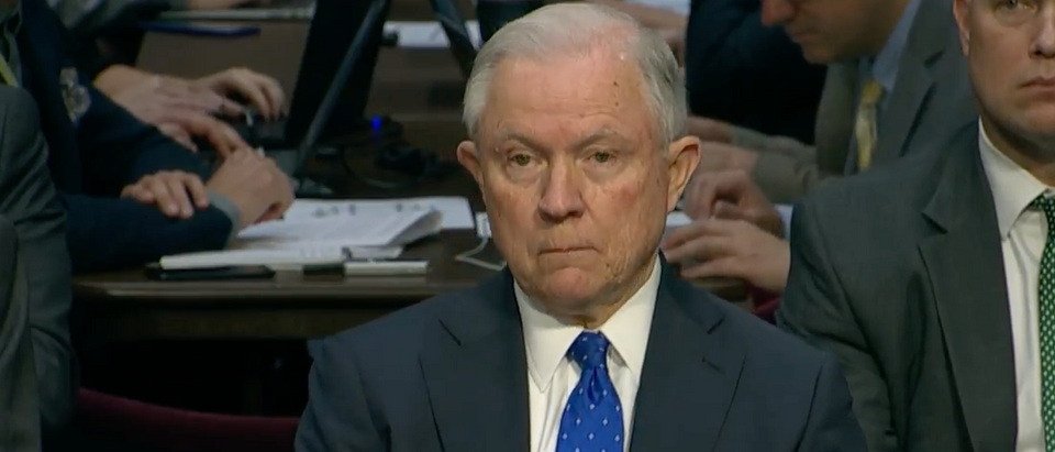 Attorney General Jeff Sessions testifies before the Senate Judiciary Committee, Oct. 18, 2017. (Youtube screen grab)