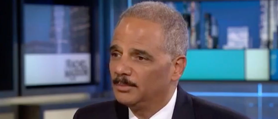 Former Attorney General Eric Holder talks to MSNBC's Rachel Maddow, Oct. 23, 2017. (Youtube screen grab)