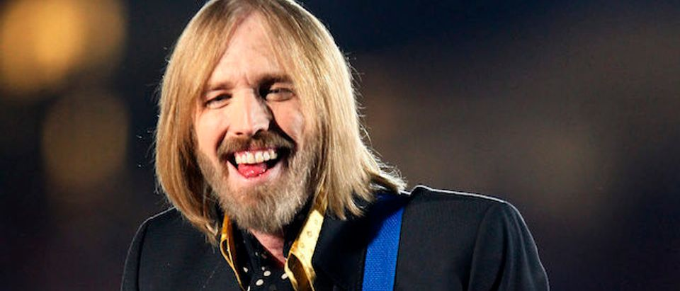 Singer Tom Petty and the Heartbreakers perform during the half time show at Super Bowl XLII in Glendale