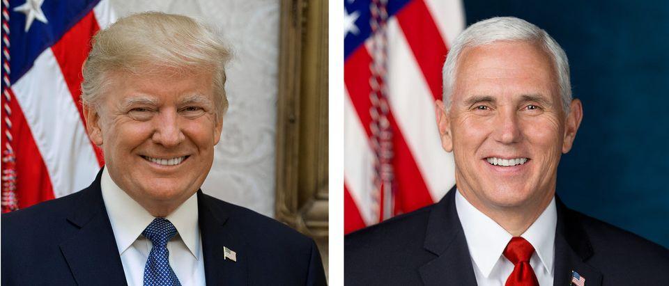 Trump Pence Official Portraits