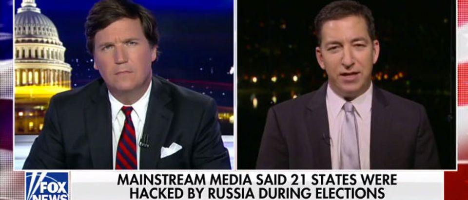Tucker Carlson and Glenn Greenwald (Screenshot/Fox News)