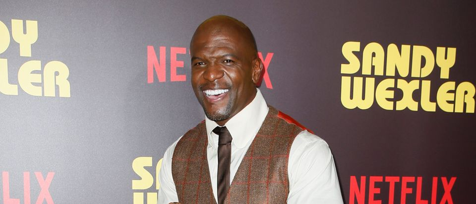 "Actor Terry Crews poses at a premiere for the Netflix original film ""Sandy Wexler"" in Los Angeles"