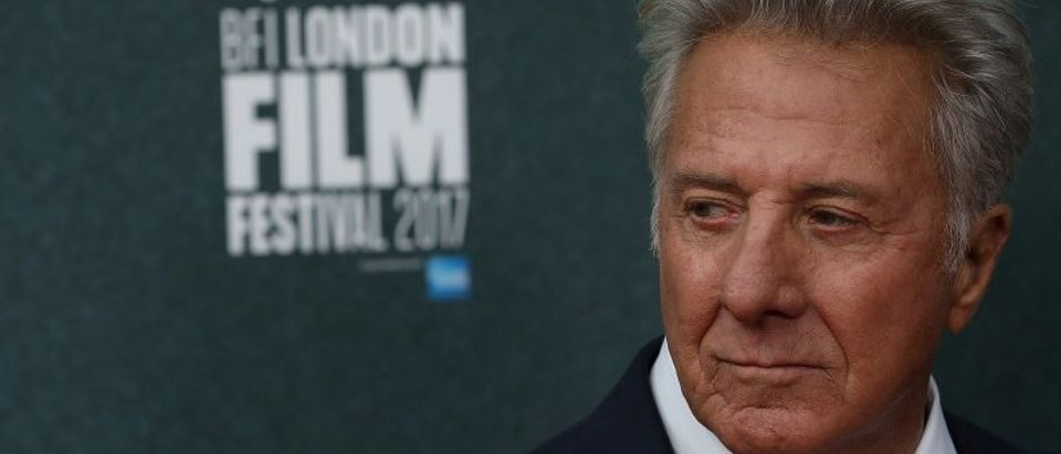 "Actor Dustin Hoffman arrives for the UK premiere of ""The Meyerowitz Stories"" during the British Film Festival in London"