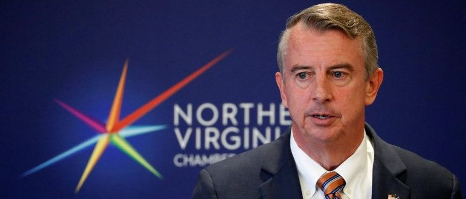 Republican candidate for Governor of Virginia Ed Gillespie speaks during a campaign event at the Northern Virginia Chamber of Commerce in Tysons, Virginia, U.S., October 26, 2017. Picture taken October 26, 2017. REUTERS/Jonathan Ernst