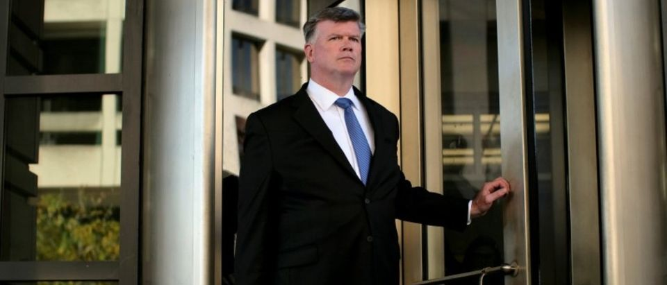 Kevin Downing, attorney for former Trump 2016 campaign chair Paul Manafort, departs after a status conference at the U.S. District Court in Washington