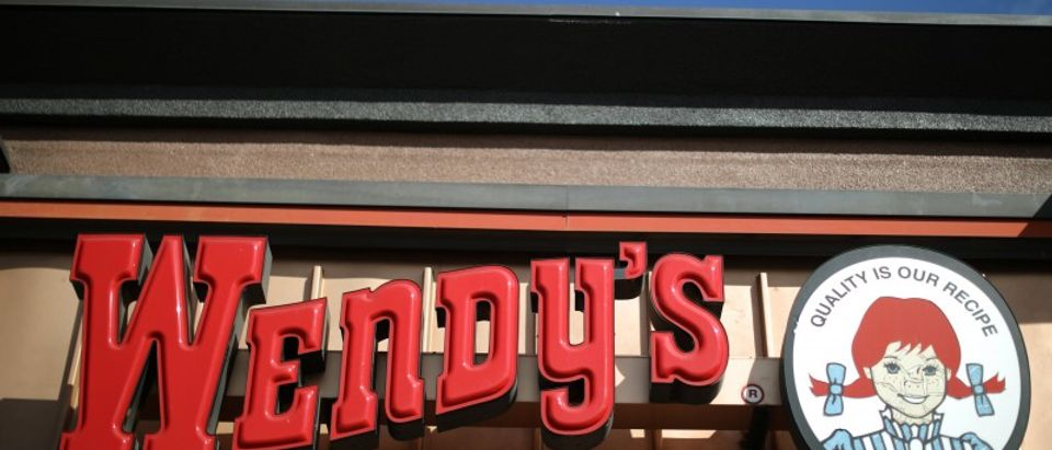 A Wendy's fast food restaurant is seen in Los Angeles