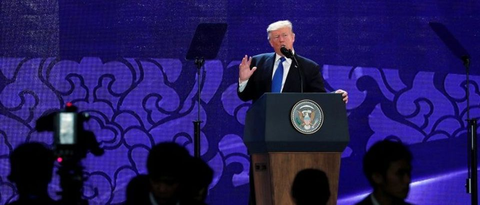Trump delivers remarks to an APEC CEO summit in Danang, Vietnam