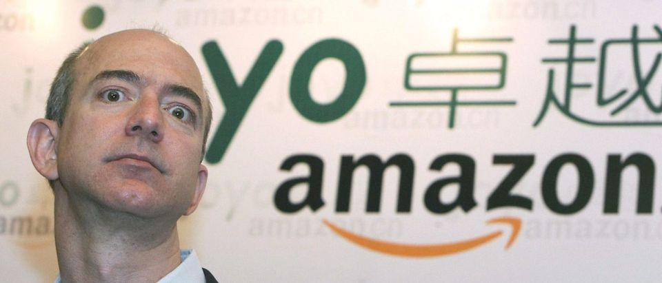 Shanghai, CHINA: The founder and CEO of Amazon, Jeff Bezos talks to the press during a news conference in Shanghai, 07 June 2007. (Photo: MARK RALSTON/AFP/Getty Images)