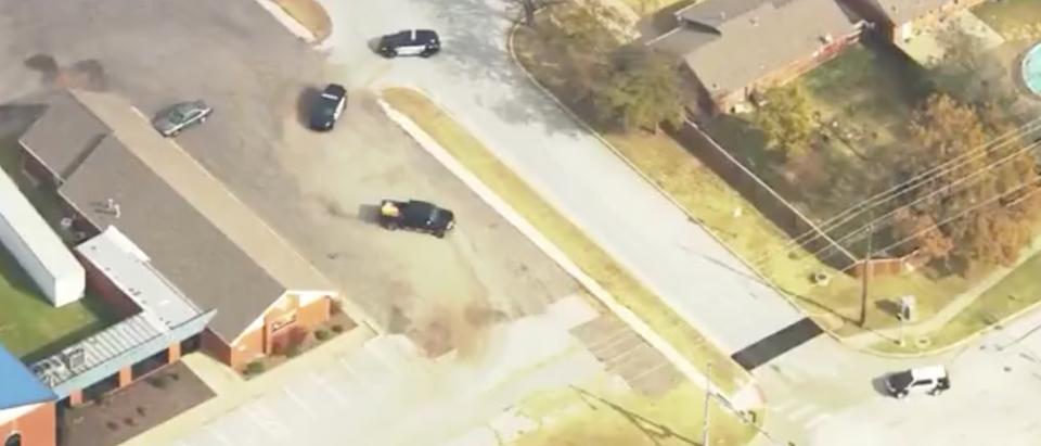 CBS Screenshot Truck Chase