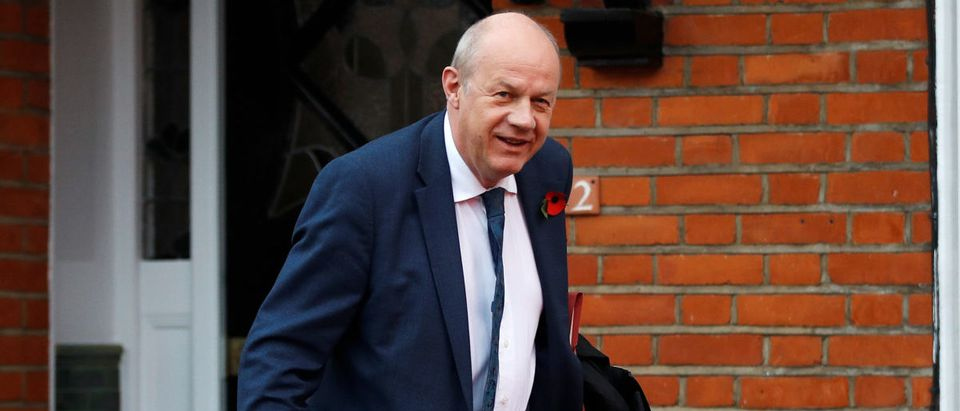 Damian Green, Britain's Prime Minister Theresa May's deputy, leaves his home in London
