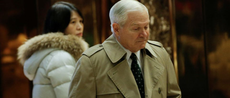 Former Defense Secretary Robert Gates arrives for a meeting with U.S. President-elect Donald Trump at Trump Tower in New York